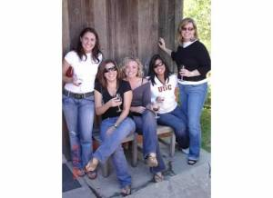 Wine tasting with the girls.
